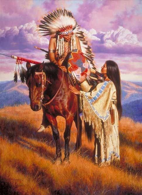 Bien-aimé peintures a rodriguez amerindiens SL34